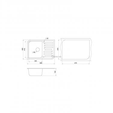 Мойка кухонная Minola MPG 71145-70 Антрацит (металлик) Фото 1