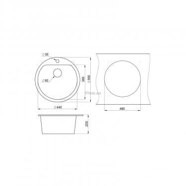 Мойка кухонная Minola MRG 1045-50 Арктик Фото 1
