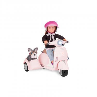 Аксессуар к кукле Our Generation Скутер с боковой коляской Фото 1
