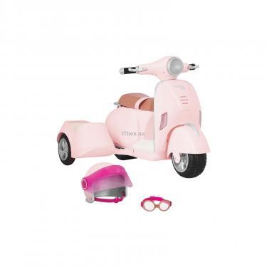 Аксессуар к кукле Our Generation Скутер с боковой коляской Фото