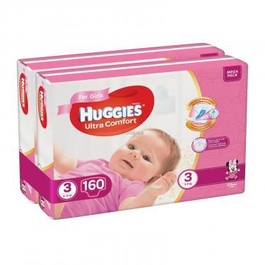 Подгузник Huggies Ultra Comfort 3 Mega для девочек (5-9 кг) 160 шт (80x2) (5029054218082) - фото 2