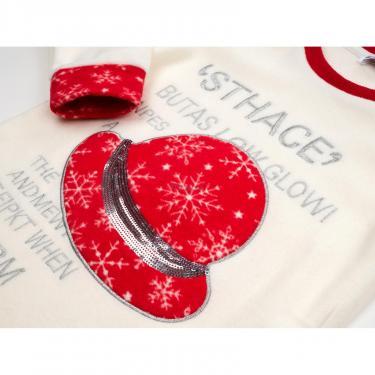 Пижама Matilda флисовая со шляпкой (9110-3-122G-red) - фото 7