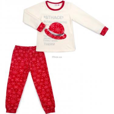 Пижама Matilda флисовая со шляпкой (9110-3-122G-red) - фото 1