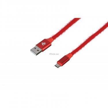 Дата кабель 2E USB 2.0 AM to Micro 5P 1.0m Fur red Фото 1