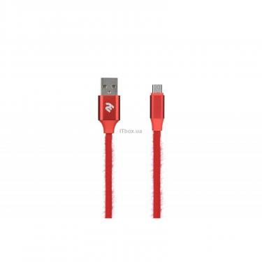 Дата кабель 2E USB 2.0 AM to Micro 5P 1.0m Fur red Фото