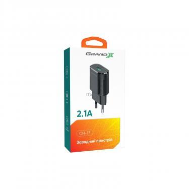Зарядний пристрій Grand-X CH-17 USB 5V 2,1A (CH-17) - фото 5