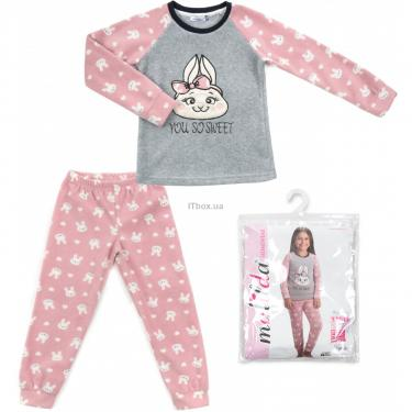 Пижама Matilda флисовая (11013-4-152G-pink) - фото 1