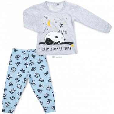 Пижама Matilda с пандами (12122-2-92B-gray) - фото 1