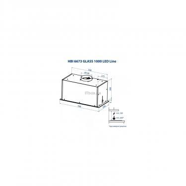 Вытяжка кухонная Minola HBI 6673 BL GLASS 1000 LED Line Фото 8