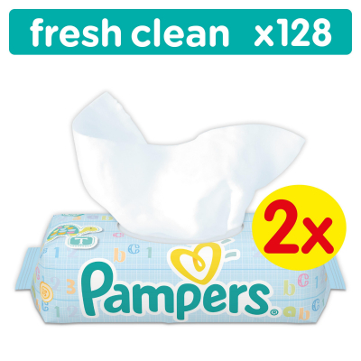 Влажные салфетки Pampers Baby Fresh Clean Duo 2х64шт (4015400439202)