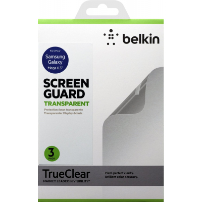 Пленка защитная Belkin Galaxy Mega 6.3 Screen Overlay CLEAR 3in1 (F8M662vf3)