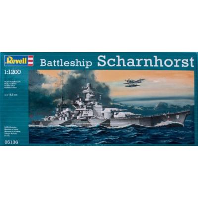 Сборная модель Revell Линкор Battleship Scharnhorst 1:1200 (5136)