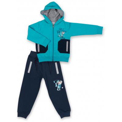 Спортивный костюм Breeze бирюзовый с собачкой (7879-104B-blue)