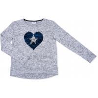 Кофта Breeze с сердцем из пайеток (1263-134G-blue)