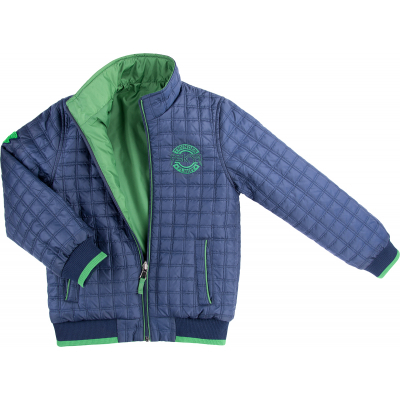Куртка Verscon двухсторонняя синяя и зеленая (3278-134B-blue-green)
